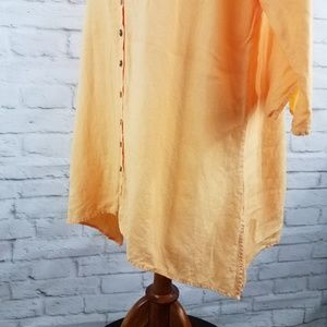 Soft Surroundings Tops - Soft Surroundings Linen Tunic Blouse Lagenlook